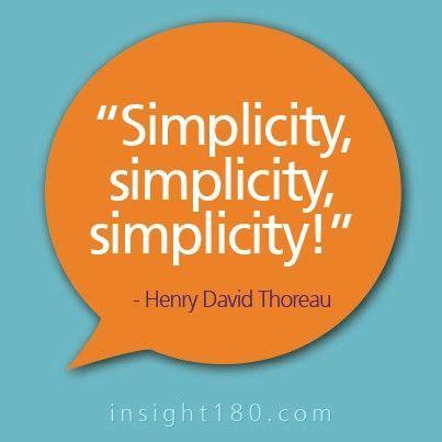 Henry david thoreau simplicity essay